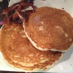 $9.00 Pancakes and $4.00 side of bacon