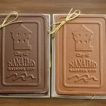Nanaimo chocolate bar in gift box - the best you can bring from Nanaimo!