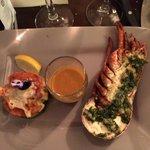 Demi homard rôti