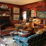 """""""The Red Room"""" sitting area in the H.S. Clay House B&B in Augusta, MO"""