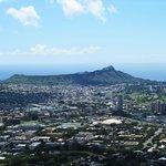 View of Diamond Head and Honolulu