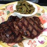 Steak & green beans