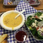 The Butternut Squash Apple soup and half Spinach Salad were yummy!