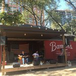 Backyard performance area