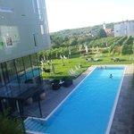 Blick vom Balkon in den Innenhof - Aufenthalt 2014