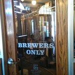 door to the brewery