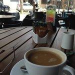 Cafe Americano con Leche