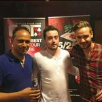 Liam from One Direction with Faz the owner