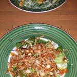 Thai Shrimp Salad and Chicken Caesar Salad