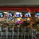 Great view for all sporting events with our 5 HDTV's at the bar