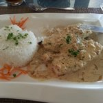 Parrot fish in butter sauce