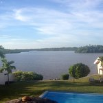 Pool overlooking lake