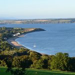 looking onto the beach from the hill above Woodstown