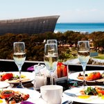 Breakfast with Cape Town Stadium view