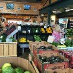 Inside produce market