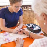You can even relax while getting your nails done - up and away from the beach buzz.