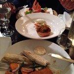 Crab cake,scallops e pesce del giorno
