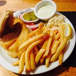 Scrod Sandwich with fries & coleslaw