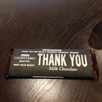Your personalized Hershey's bar at check in.. Very nice touch