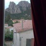 Vista dalla camera sui monti di San Pantaleo