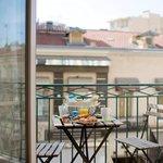 les balcons disponibles en Double supérieur et Suites