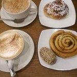 Cinnamon Roll was average, Hot Chocolate was good :)
