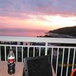 Sunset from the balcony of Apartments Marija Magdalena