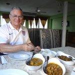 fish, channa marsala and bhindi marsala