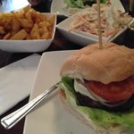 Speciality Cheese (Goat's Cheese), Cajun Fries & Coleslaw