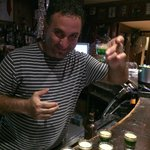 Theo making one of his infamous 'After Eight' shots - ask for one!