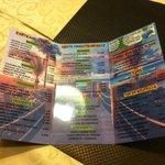 Carte des plats et menu