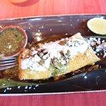 Green chilli chicken tamale