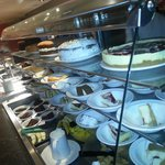 Just a small selection of puddings and cakes yum!!