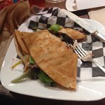 Yummy turkey club crepe!