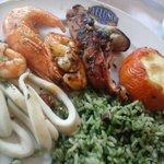 frigideira de frutos do mar