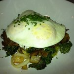 Reposting corned beef hash with egg and kale brunch dish. Really good!!