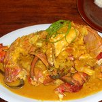 cocnut crab in sweet curry sauce