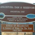 Angostura Dam Sign