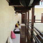 Second-level balcony common areas
