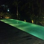 Pool view in the evening