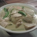 Mouth watering coconut and chicken curry