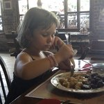 Lunch with our doughter...