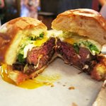 Spathe's beef cheese burger