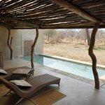 Private plunge pool in honeymoon suite