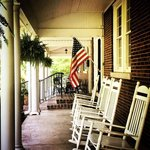 Relax on the front porch of The Woodford Inn.