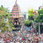 Temple festival panaroma view