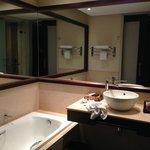 visión parcial del baño