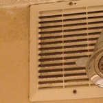 Mold and dirt on the exhaust fan