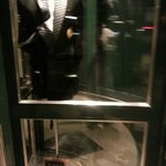 Revolving door fashion display