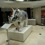 Lobby art exhibit